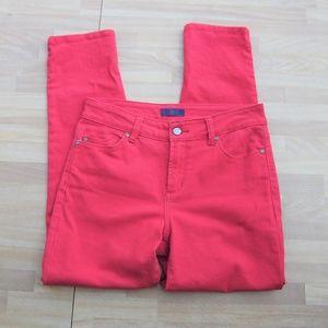 NYDJ Red Denim Skinny Petite Jeans 2